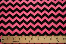Small Chevron - Black / Hot Pink