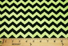 Small Chevron - Black / Lime