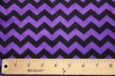 Small Chevron - Black / Purple