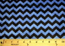 Small Chevron - Black / Royal