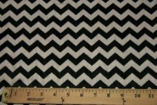Small Chevron - Black / Silver