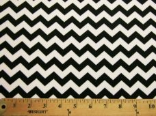 Small Chevron - Black / White