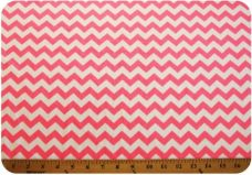 Small Chevron - Neon Coral