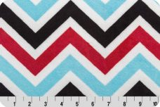 Large Chevron - Red & Turquoise