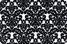Damask #1 - Black on White