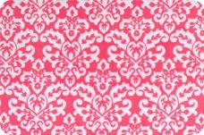 Damask #1 - Fuchsia & White