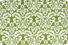 Damask #1 - Jade & White