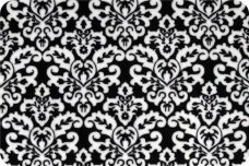 Damask #1 - White on Black