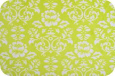 Damask #2 - Apple Green & White