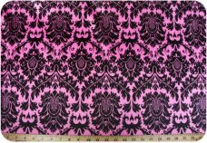 Damask #3 - Hot Pink & Black