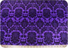 Damask #3 - Purple & Black