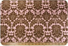 Damask #3 - Pink & Brown