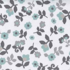 Simple Floral Minky - Mint