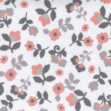 Simple Floral Minky - Salmon