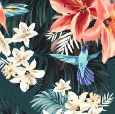 Hawaiian Floral Minky