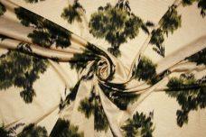 Beige & Olive Floral Jersey