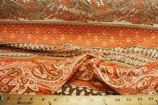 Orange Paisley Stripe Knit