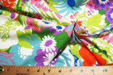 Large Bright Floral Slub Knit