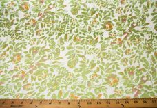 Cutout Floral Jersey - Green