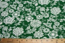 Green Floral Knit