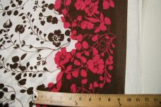 Pink & Brown Bordered Floral Jersey