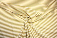 Small Stretch Knit Stripe - Gold