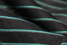 Black & Teal Tissue Knit Stripe