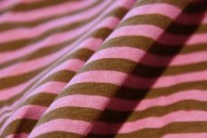 Small Stretch Knit Stripe - Pink & Light Brown