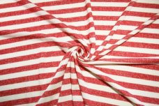 French Terry Stripe - Red