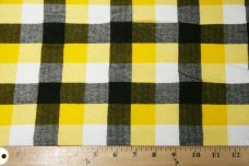 Large Gingham Stretch Knit - Yellow
