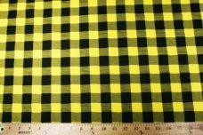 Medium Gingham Stretch Knit - Yellow