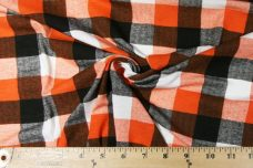 Large Gingham Stretch Knit - Orange