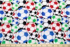 Soccer Balls Minky - Multi