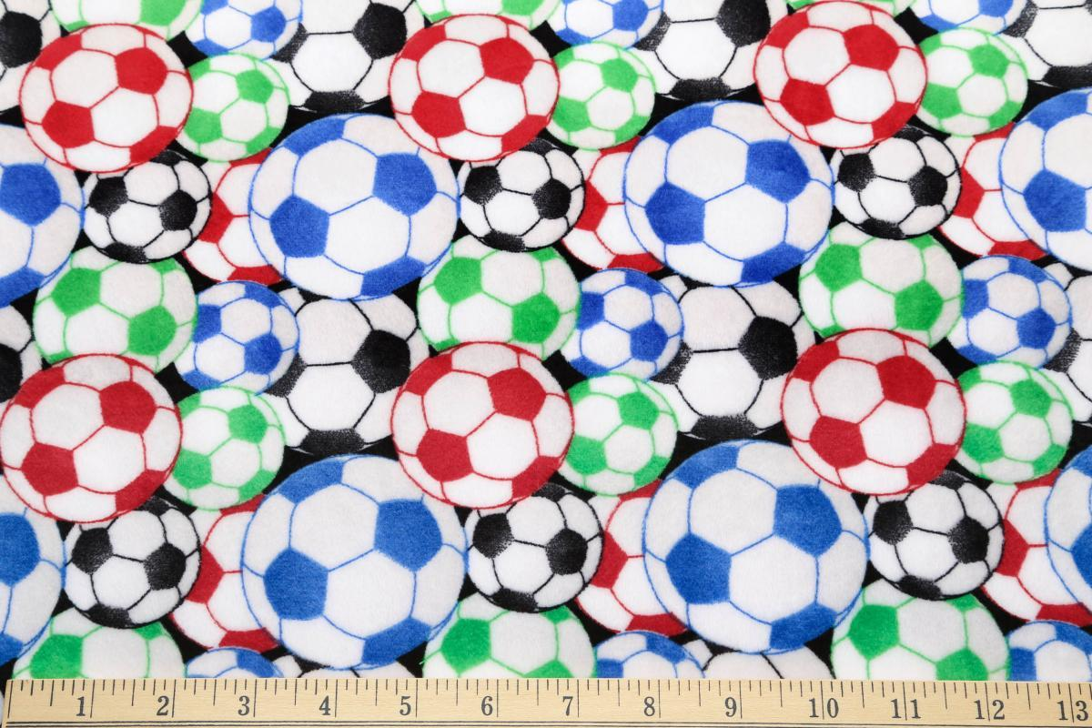 2d7a8df03 Soccer Balls Minky - Multi - The Fabric Market
