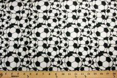 Soccer Balls Minky - Black