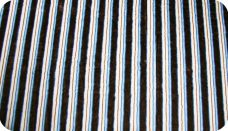 Various Stripe - Blue & Chocolate