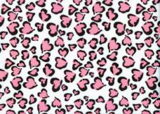 Cheetah Hearts - Neon Coral