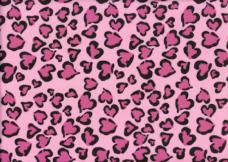 Cheetah Hearts - Pink