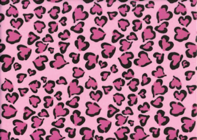 Cheetah Hearts - Pink