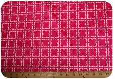 Geometric Checkerboard Floral Minky- Fuchsia
