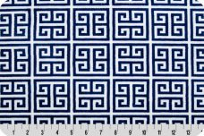 Dolce Vita Greek Key Minky - Midnight