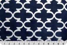 Dolce Vita Lattice Minky - Navy & Snow
