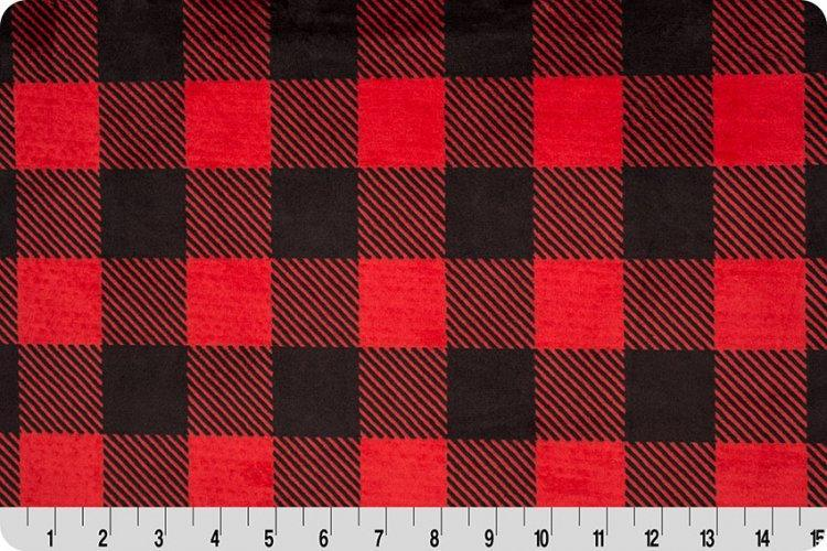 Buffalo Plaid Minky - Red