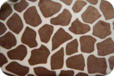 Giraffe Print Minky - Butter