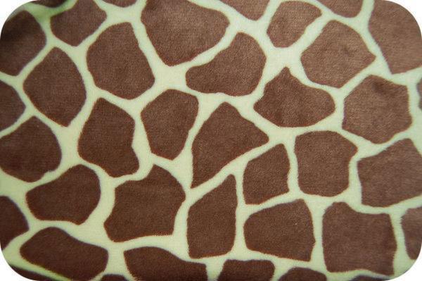Giraffe Print Minky Celery The Fabric Market