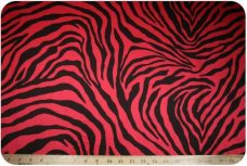 Zebra - Red & Black