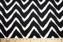 Grunge Chevron Spandex - Black & White