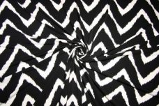 Grunge Chevron Spandex - Black & White
