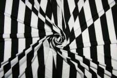 """Lightweight Black & White 1+1/4"""" Stripe Spandex"""