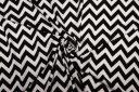 White & Black Chevron Double Knit